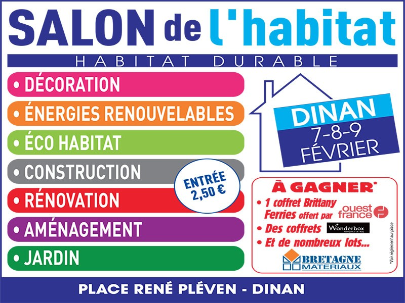 Salon de l habitat durable de dinan du 6 au 8 f vrier 2016 for Salon de l habitat valence